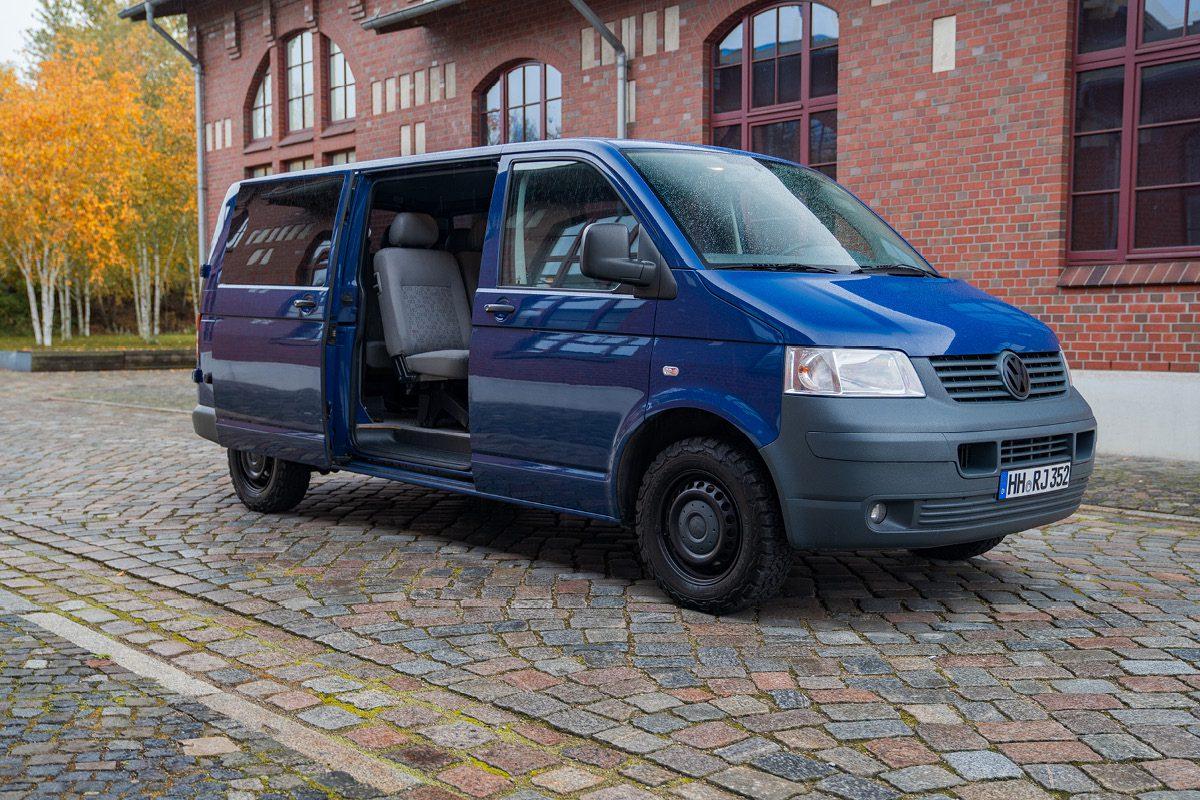 VW T5 -Rechte Seite geöffnet